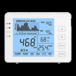 MT-CO2-1200P - Medidor de CO2, temperatura y humedad con alarma visual y audible programable por el usuario